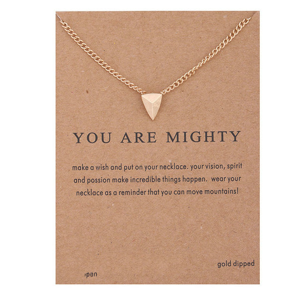 "Make A Wish Necklace: ""You Are Mighty"""