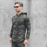 Sports Camouflage Hoodie With Zipper Pockets