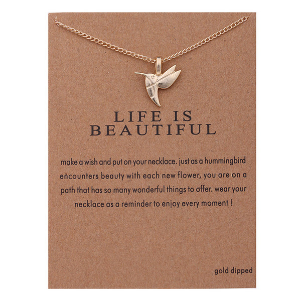 "Make A Wish Necklace: ""Life Is Beautiful"""