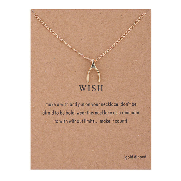 "Make A Wish Necklace: ""Wish"" Wishbone"