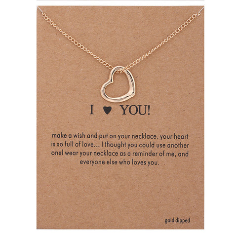 "Make A Wish Necklace: ""I Heart You"""