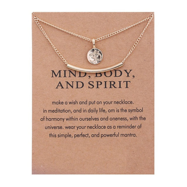 "Make A Wish Necklace: ""Mind, Body, and Spirit"""