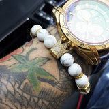 Gold IMPERIAL CROWN & STOPPERS BRACELETS