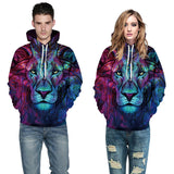Lion, Galaxy Fashion 3d Hoodie Men/Women