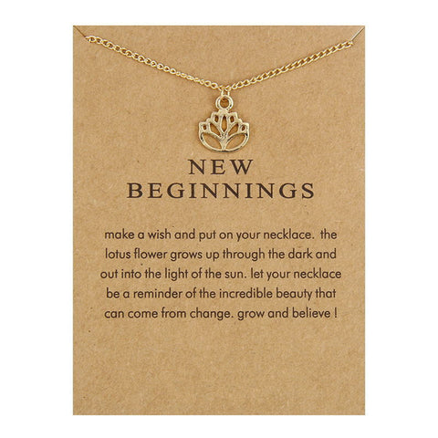 "Make A Wish Necklace: ""New Beginnings"""