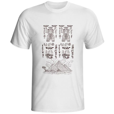 Egypt Life Writing Short Sleeve T-shirt