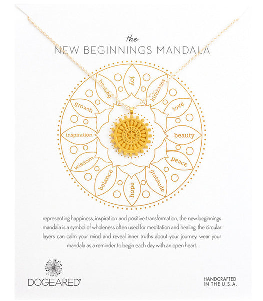 "Make A Wish Necklace: The ""New Beginnings"" Mandala"