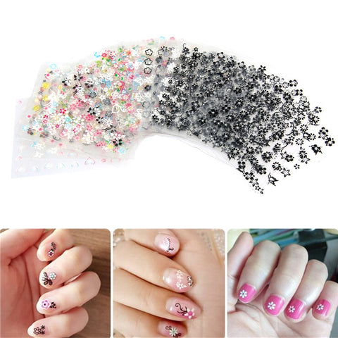 50 Sheets 3D Design Self-adhesive Nail Art Stickers