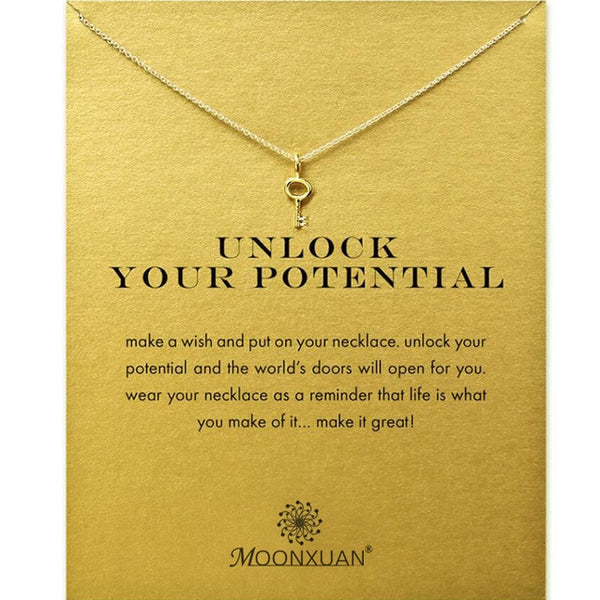 "Make A Wish Necklace: ""Unlock Your Potential"""