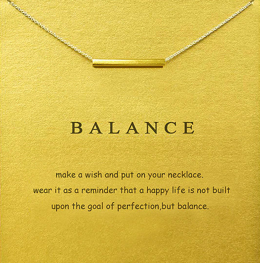 Make A Wish Necklace: Balance Bar (NEW)