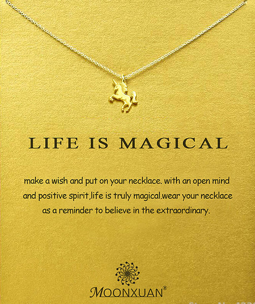"Make A Wish Necklace: ""Life is Magical"" (NEW)"