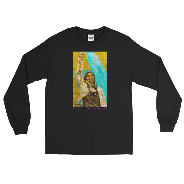 """Native"" Orig. Street Art Brooklyn N.Y. Long Sleeve T-Shirt ~ Tap & Scroll for Colors"