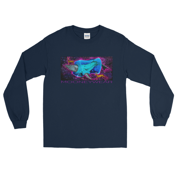 """Whale"" Orig. Street Art Queens N.Y. Long Sleeve T-Shirt ~ Tap & Scroll for Colors"