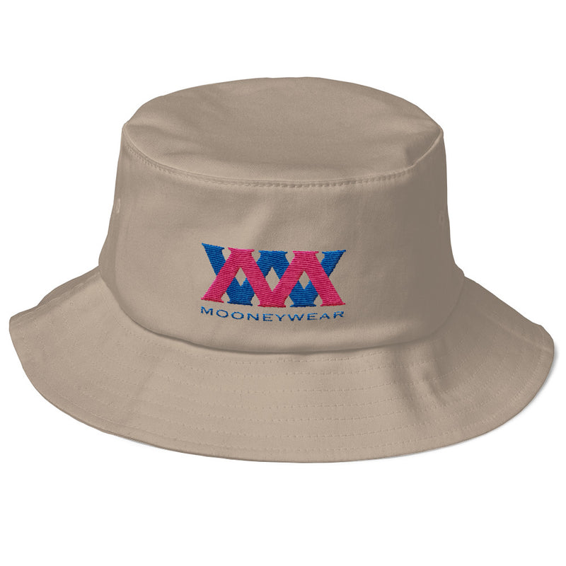 Blue & Pink Logo Old School Bucket Hat~tap & scroll for colors