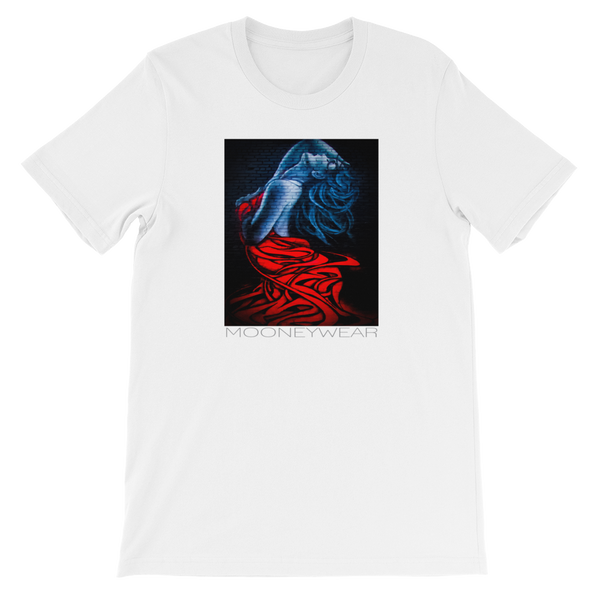 """Red Dress"" Orig. Street Art Brooklyn N.Y. T-Shirt ~Tap & Scroll for Colors"