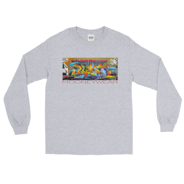 """No Parking"" Orig. Street Art Brooklyn N.Y. Long Sleeve ~ Tap & Scroll for Colors"