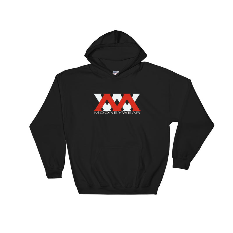 Red & White Mooneywear Logo Hoodie ~Tap & Scroll for Colors
