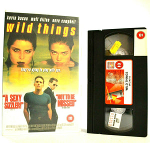 Wild Things: Erotic Thriller (1998) - Large Box - M.Dillon/N.Campbell - Pal VHS