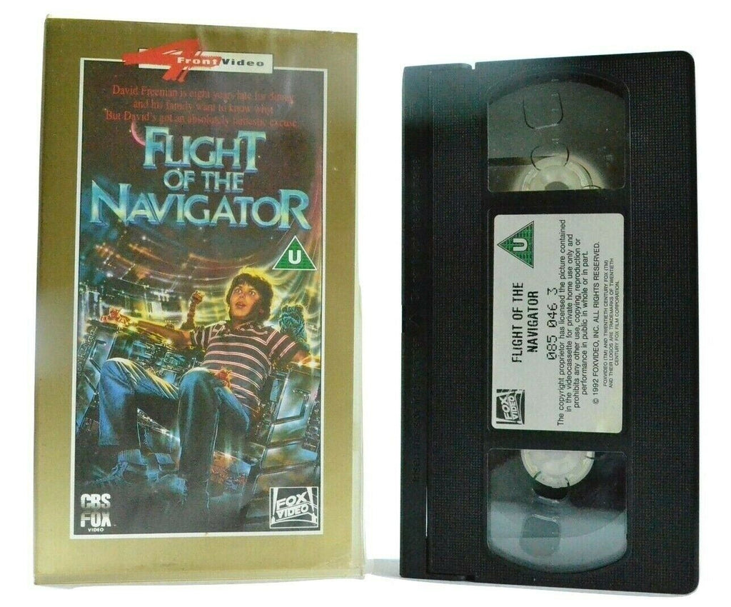 Flight Of The Navigator: (1986) CBS/FOX - Sci-Fi/Adventure - Children's - VHS