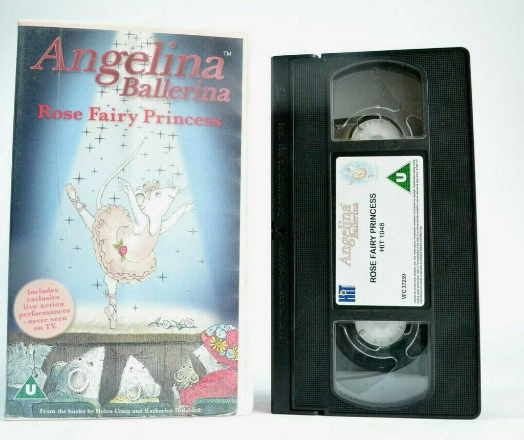 Angelina Ballerina: Rose Fairy Princess - Animated Adventures - Children's - VHS