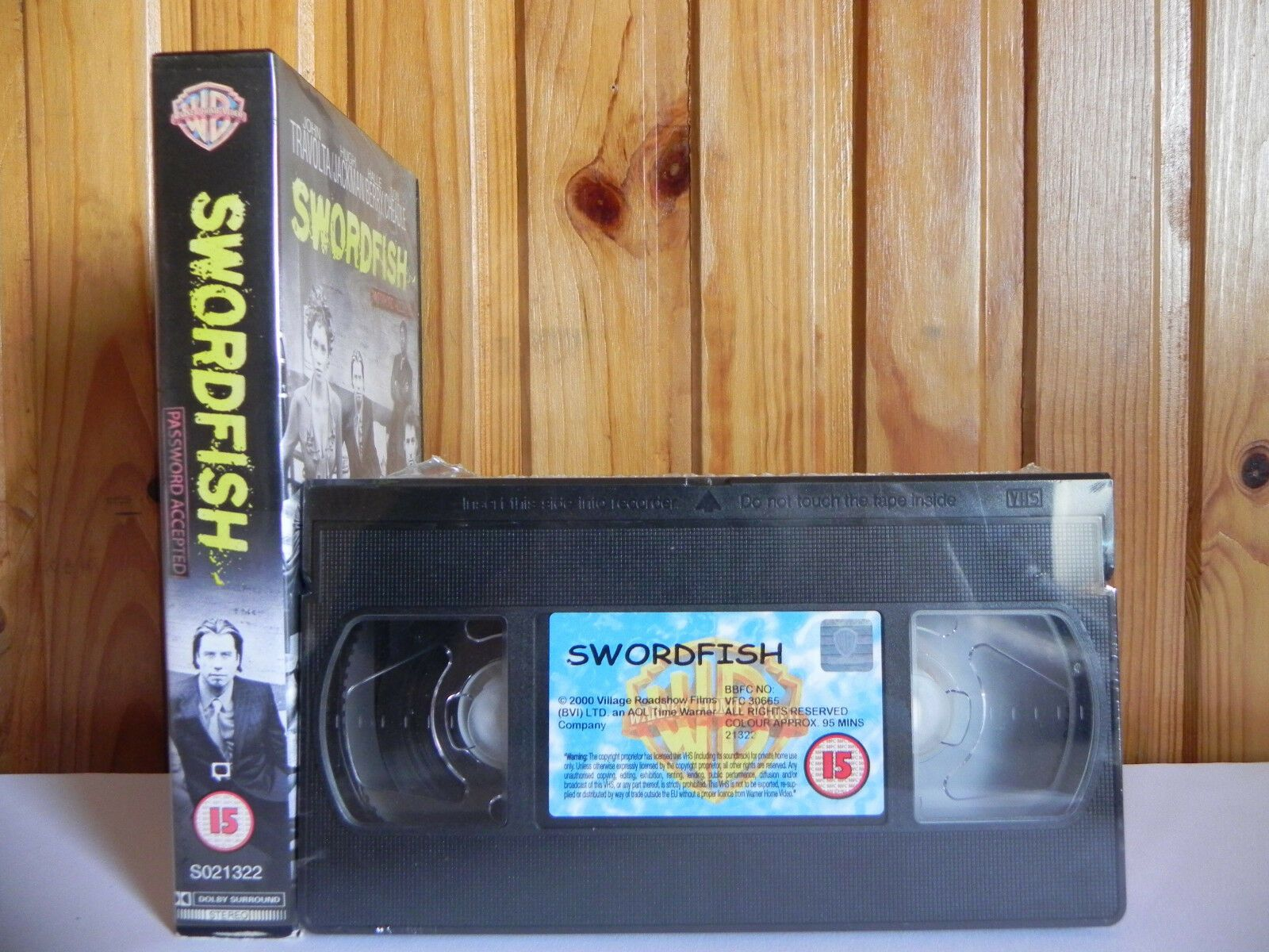 Swordfish (2001); [Brand New Sealed] Action Thriller - John Travolta - Pal VHS