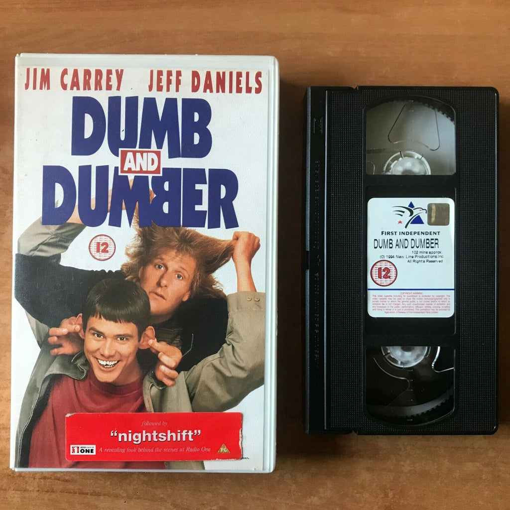Dumb And Dumber (1994): Jim Carrey / Jeff Daniels - Comedy [Large Box] Pal VHS
