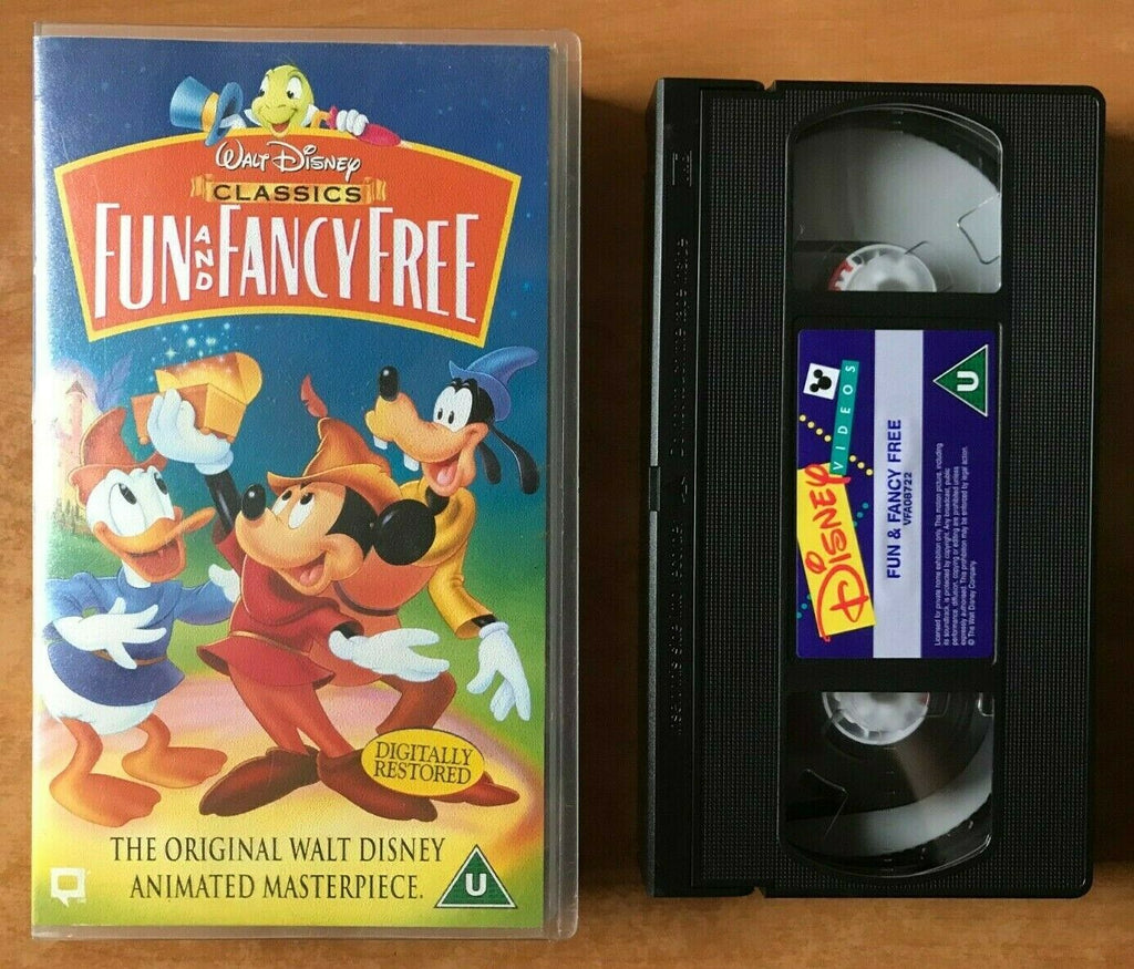 Fun And Fancy Free [Walt Disney]: Digitally Restored - Animated - Kids - Pal VHS