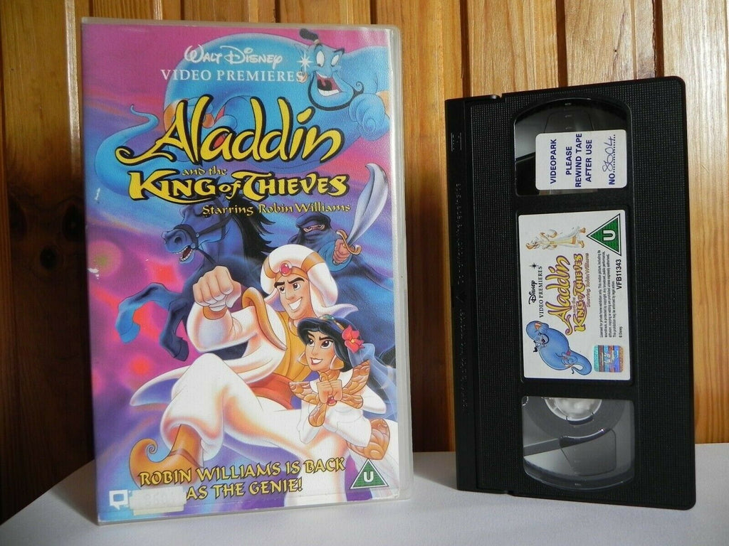 Aladdin And The King Of Thieves - Walt Disney - Animated - Large Box - Pal VHS