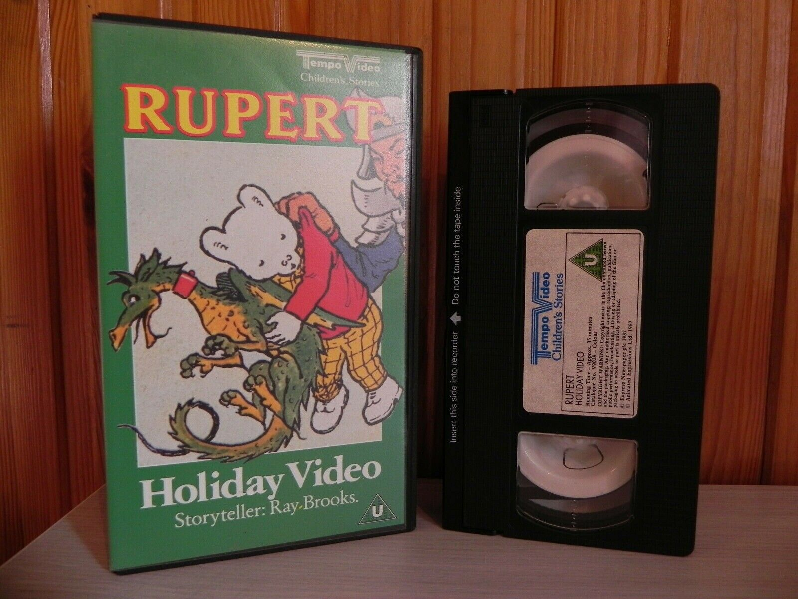 RUPERT - HOLIDAY VIDEO - RAY BROOKS - ORIGINAL 1988 RELEASE - TEMPO VIDEO - VHS