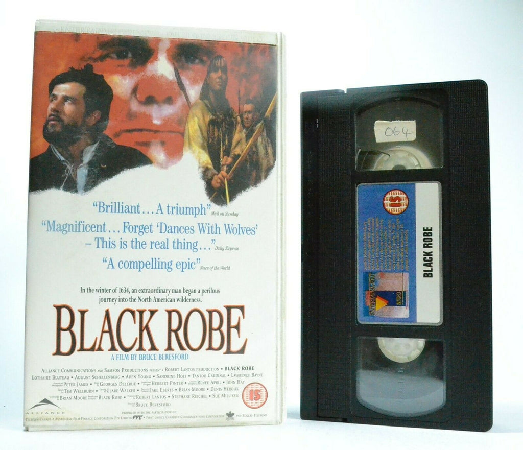Black Robe (1991) - Based On Brian Moore Novel - Biographical Drama - Pal VHS