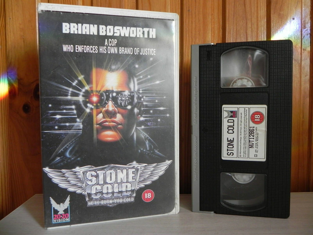 Stone Cold - He'll Burn You Cold - 1991 Release - Action - Bosworth - OOP Pal VHS