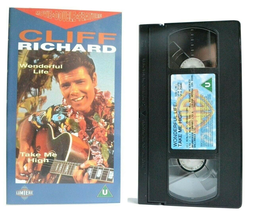 2x Cliff Richards: Wonderful Life/Take Me High - Musical - Exciting Songs - VHS
