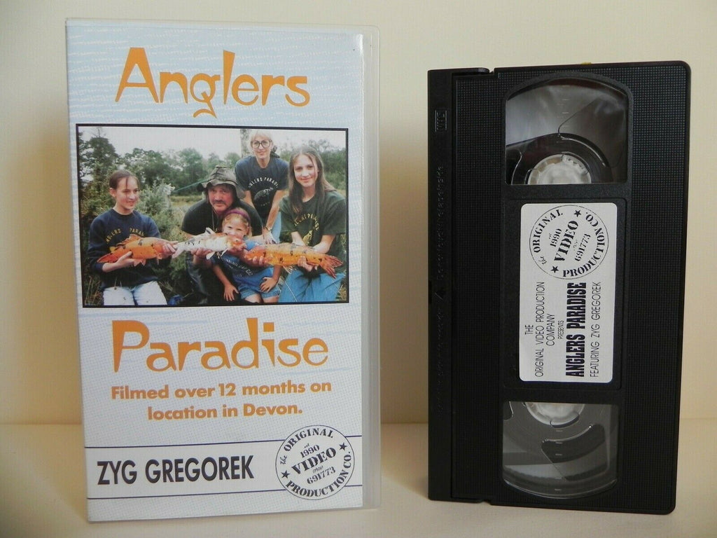 Anglers Paradise - 1990 Video - Location In Devon - Zyg Gregorek - Pal VHS