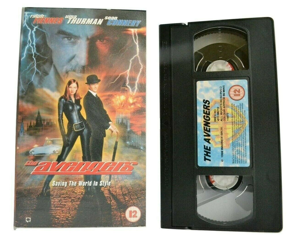 The Avengers (1998) - Action Fantasy - Ralph Fiennes / Uma Thurman - Pal VHS