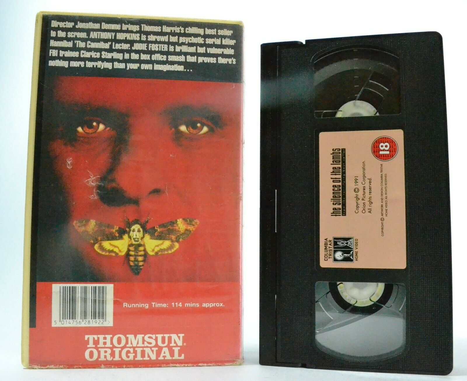 The Silence Of The Lambs; [Thomas Harris] - Thriller - Anthony Hopkins - Pal VHS