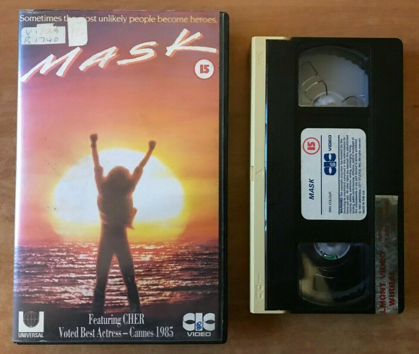 Mask (1985): Biograpical Drama [Large Box] True Story - Che / Eric Stoltz - VHS