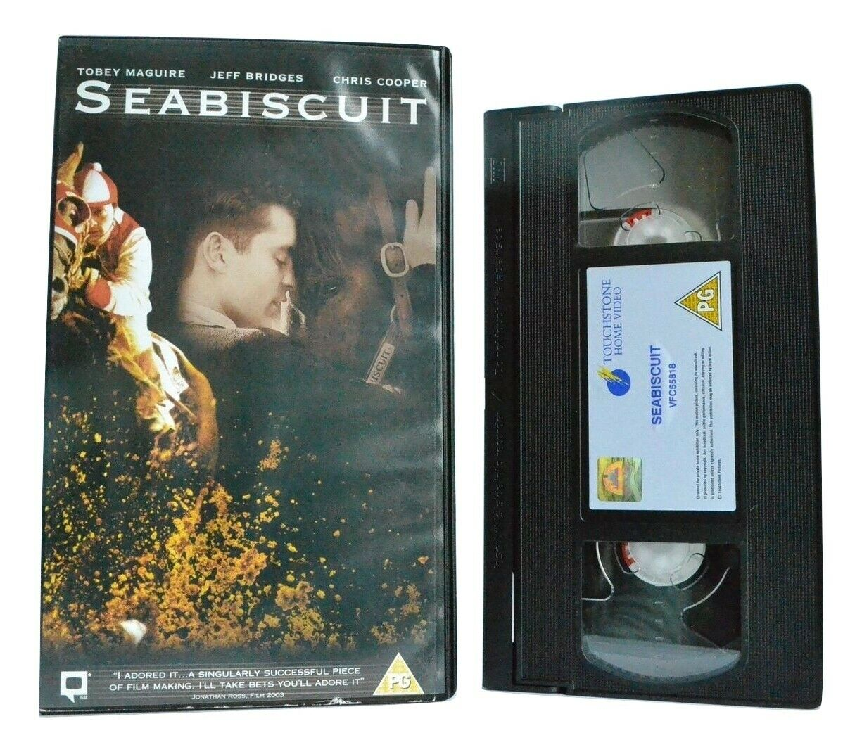 Seabiscut: Based On L.Hillenbrand Book - (2003) Equestrian Sports Film - Pal VHS