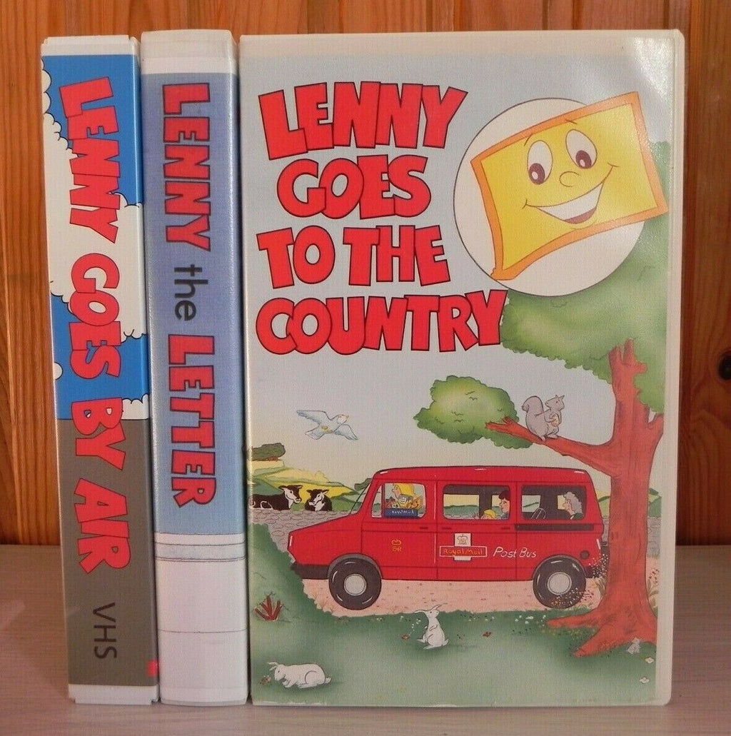 Lenny Adventures (3 Tapes) - Educational - Animated - Children's - Pal VHS