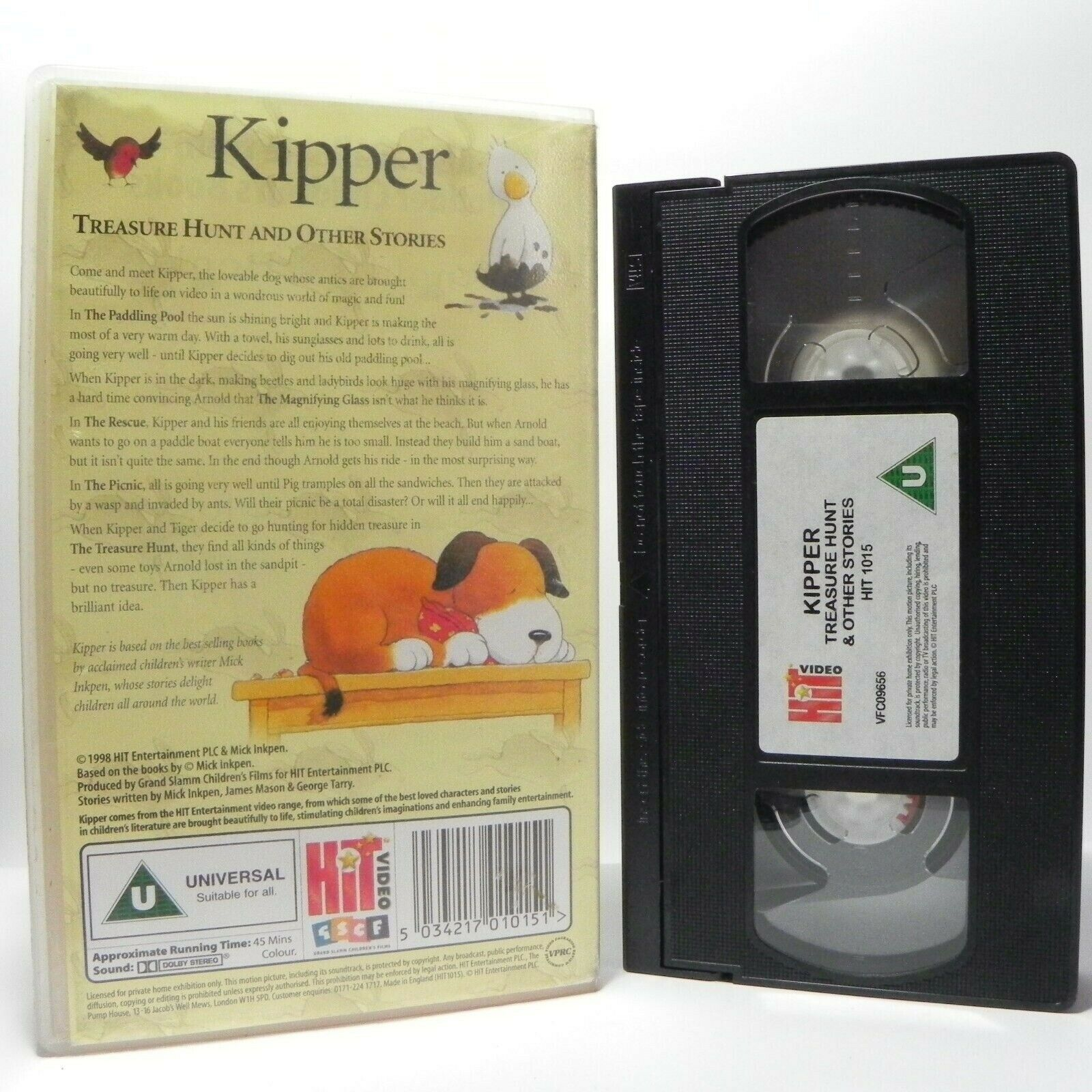 Kipper: Treasure Hunt - Classic Animation - Magic Adventures - Children's - VHS