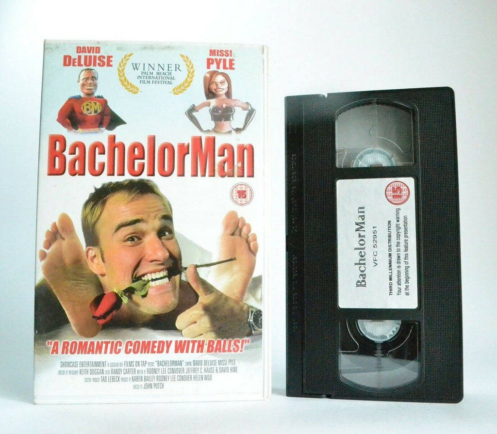 Bachelor, Box, Comedy, David, Large, Man, Pal, Pyle, Romantic, VHS