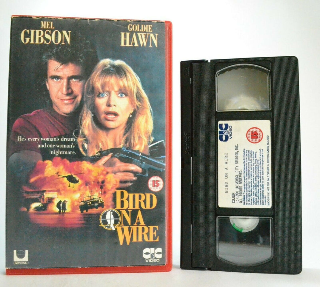 Bird On A Wire: Mel Gibson/Goldie Hawn - Action Comedy (1990) - Large Box - VHS