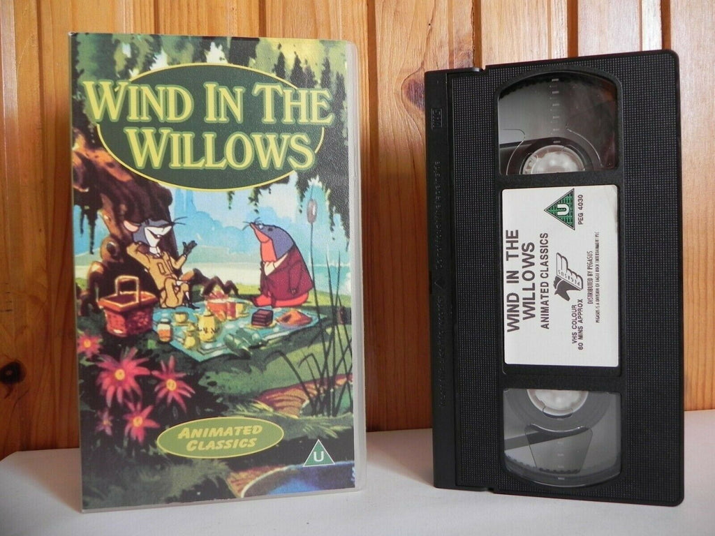 Wind In The Willows - Animated Classics - Colourful Animal Characters - Pal VHS
