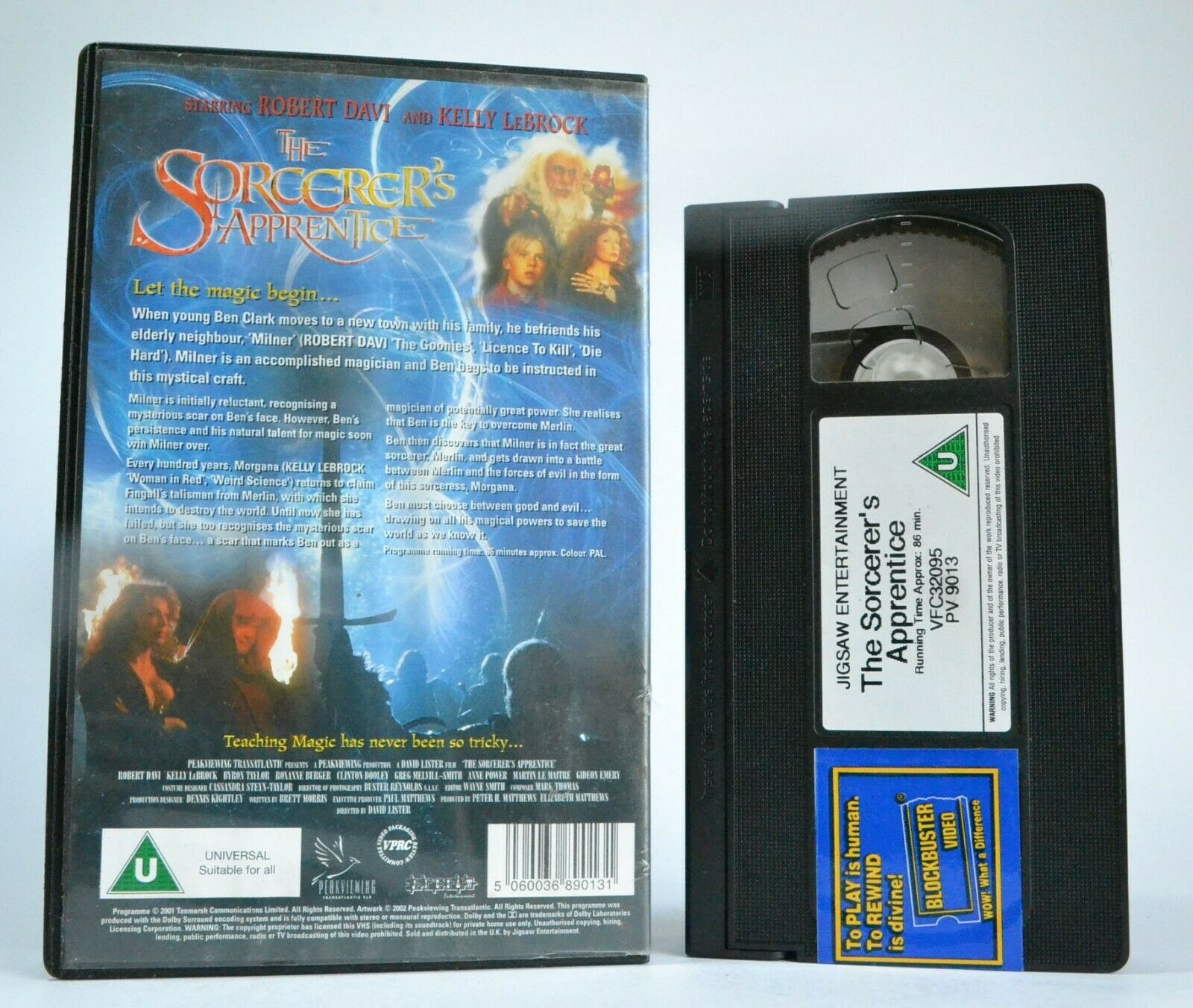 The Sorcerer's Apprentice - Magical Fantasy - Large Box - Kelly LeBrock - VHS