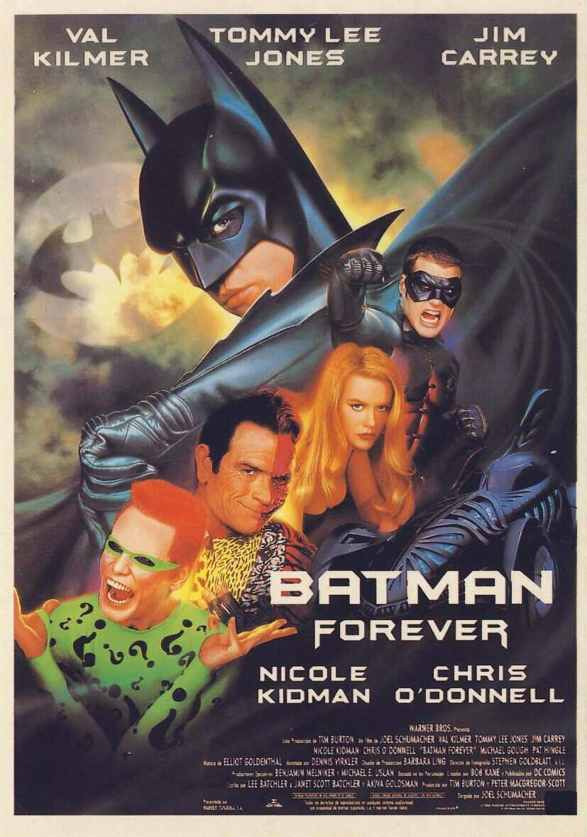 Batman Forever (1995): Superhero Action - Val Kilmer / Tommy Lee Jones - Pal VHS