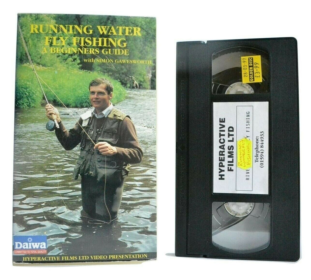 Running Water Fly Fishing: A Beginners Guide - By Simon Gawesworth - Pal VHS