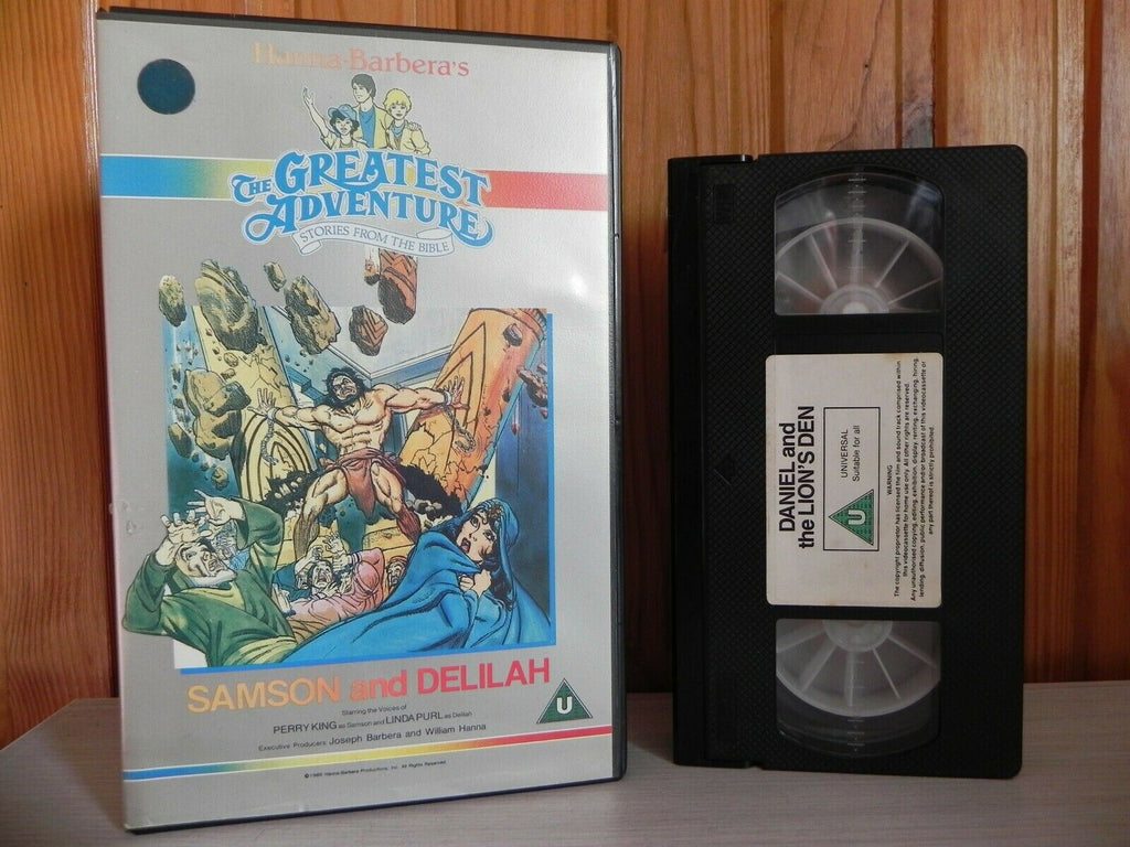 Stories From The Bible [Hanna Barbera]:  Sampson & Delilah - Large Box - Animated - Pal VHS