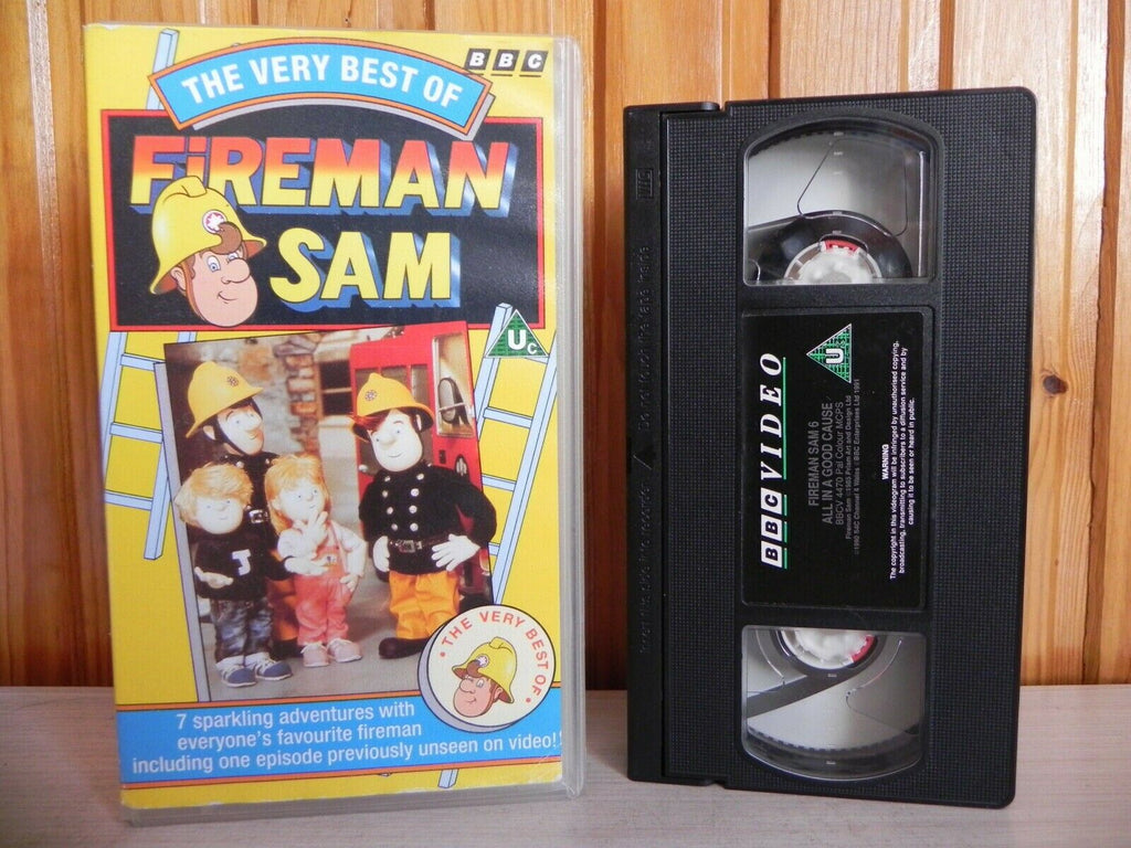 The Very Best Of Fireman Sam - BBC - 7 Sparkling Adventures - Childrens - VHS