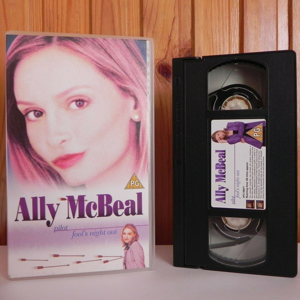 Ally McBeal - Pilot - Fool's Night Out - TV Show - Calista Flockhart - Pal VHS