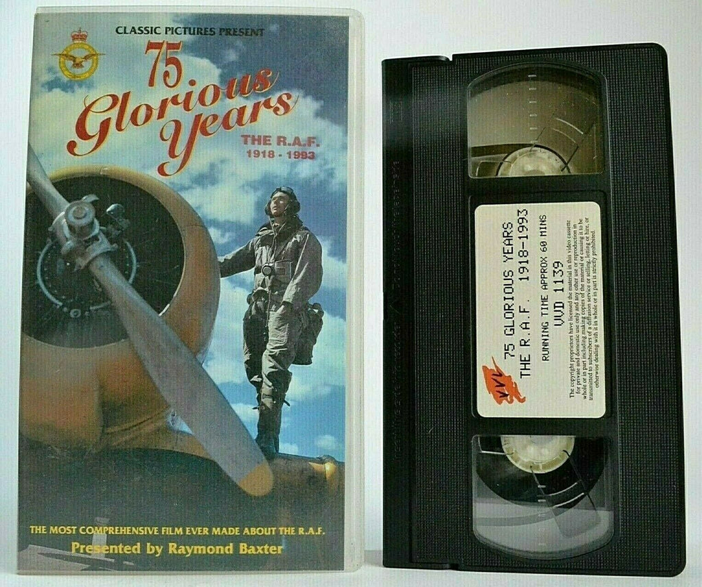 75 Glorious Years: The R.A.F. (1918-1993) - Raymond Baxter - World War 2 - VHS