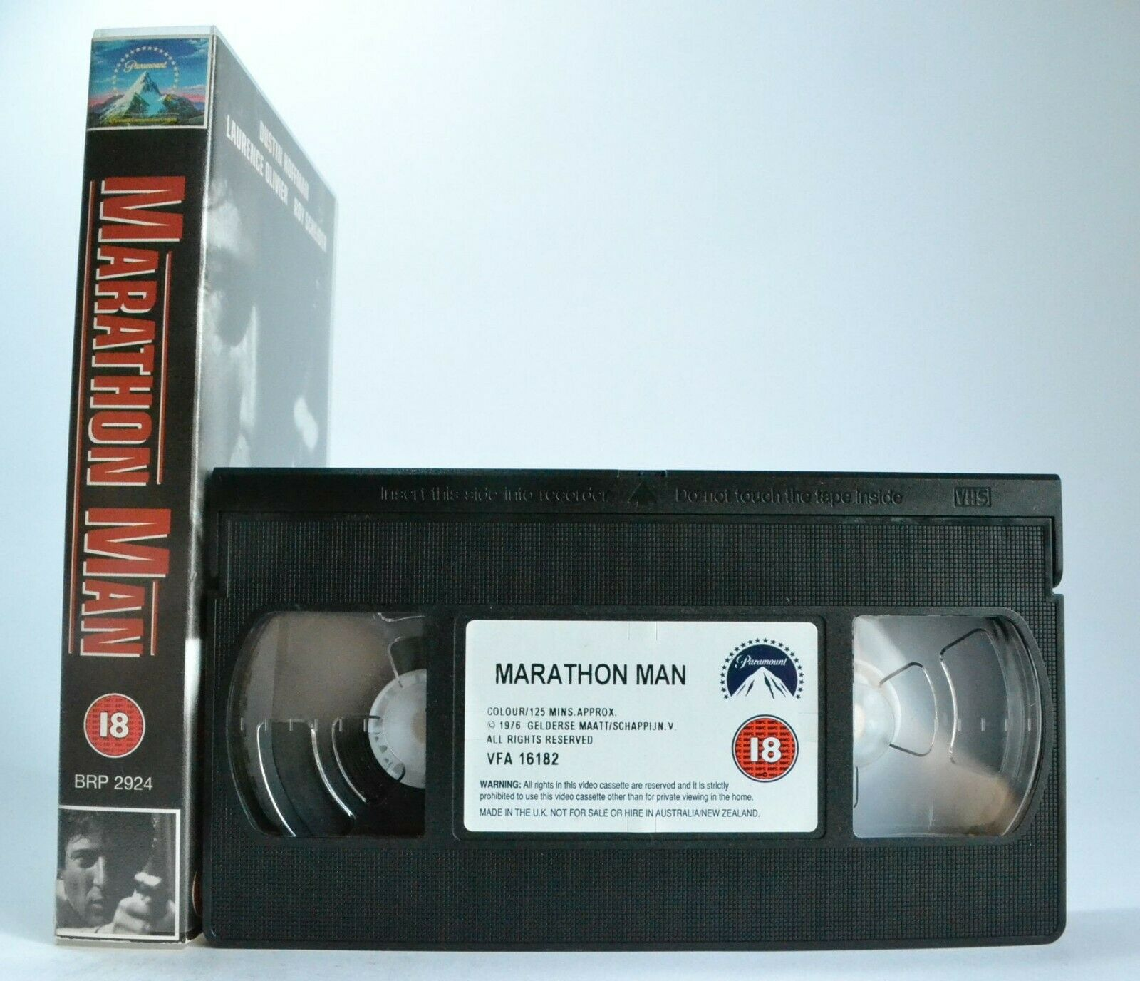 Marathon Man: Based On W.Goldman Novel - Suspense Thriller - D.Hoffman - Pal VHS